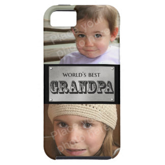 World's Best Grandpa - Custom 2 photos Case For The iPhone 5