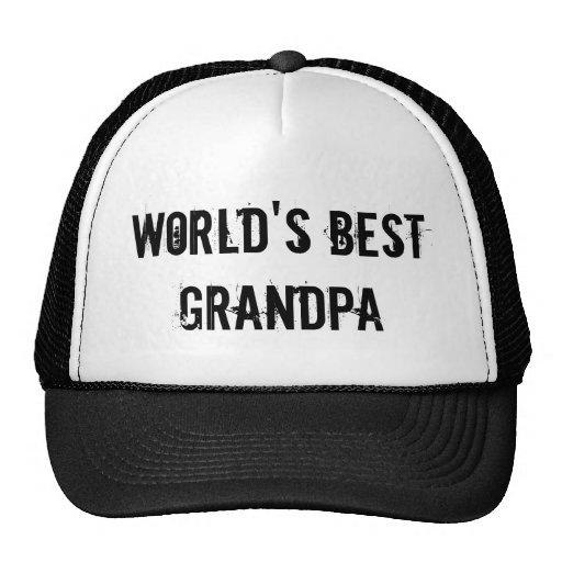 World's Best Grandpa Trucker Hats