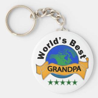 World's Best Grandpa Key Ring