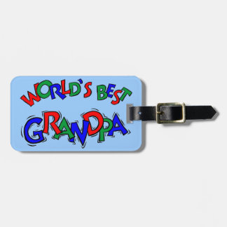 World's Best Grandpa Luggage Tag