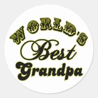 World's Best Grandpa Stickers Round Sticker
