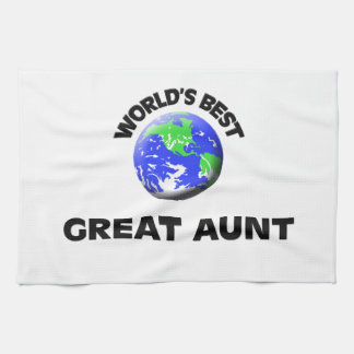 World's Best Great Aunt Tea Towel