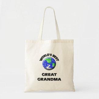 World's Best Great Grandma Tote Bags