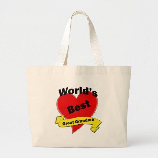 World's Best Great Grandma Canvas Bag