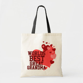 Worlds Best Great Grandma Budget Tote Bag