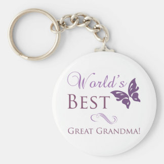 World's Best Great Grandma Key Ring