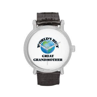 World's Best Great Grandmother Wrist Watches