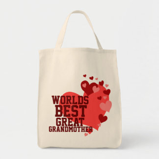 Worlds Best Great Grandmother Grocery Tote Bag