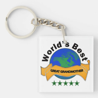 World's Best Great Grandmother Single-Sided Square Acrylic Key Ring