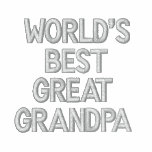World's Best Great Grandpa Embroidered Hooded Sweatshirt