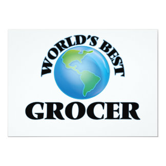 "World's Best Grocer 5"" X 7"" Invitation Card"