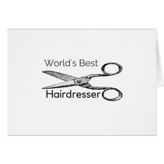 World's best hairdresser card