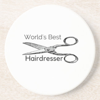 World's best hairdresser coaster