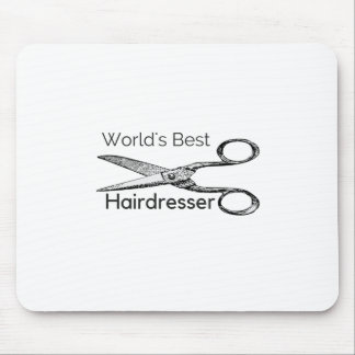 World's best hairdresser mouse pad