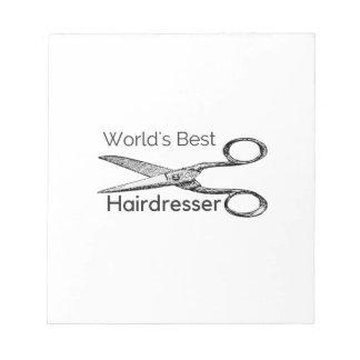 World's best hairdresser notepad