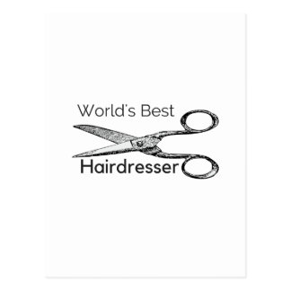 World's best hairdresser postcard