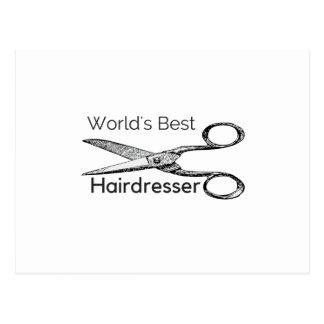 World's best hairdresser postcard