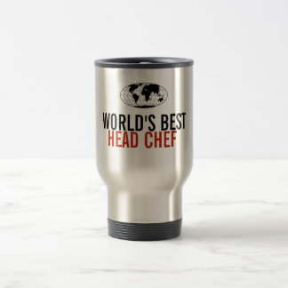 World's Best Head Chef Stainless Steel Travel Mug