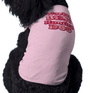 Worlds Best Hunting Dog Pink Camo T-Shirt Sleeveless Dog Shirt