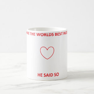 Worlds Best Husband coffee cup