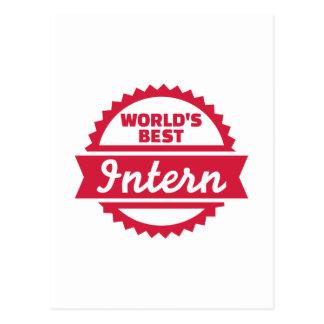 World's best Intern Postcard