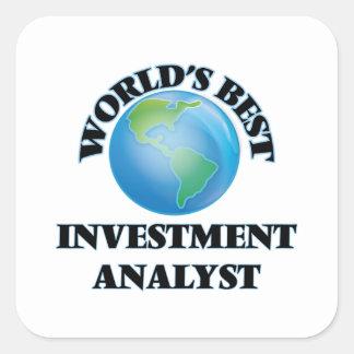 World's Best Investment Analyst Stickers