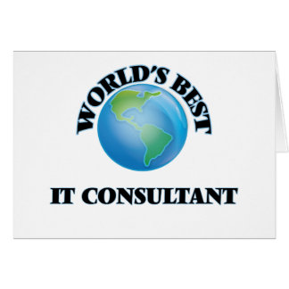 World's Best It Consultant Cards
