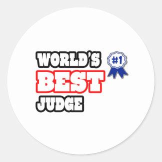 World's Best Judge Round Sticker