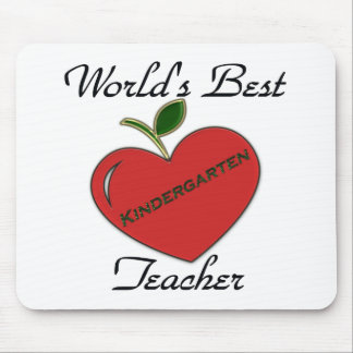 World's Best Kindergarten Teache Mouse Pad