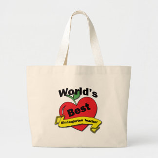 World's Best Kindergarten Teacher Jumbo Tote Bag