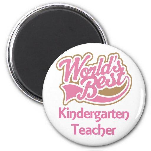 Worlds Best Kindergarten Teacher Fridge Magnet