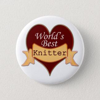 World's Best Knitter 6 Cm Round Badge