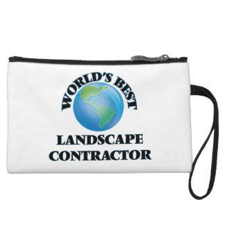 World's Best Landscape Contractor Wristlet Purse