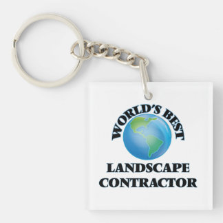 World's Best Landscape Contractor Acrylic Keychain