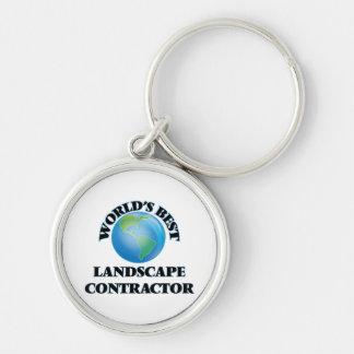 World's Best Landscape Contractor Key Chain