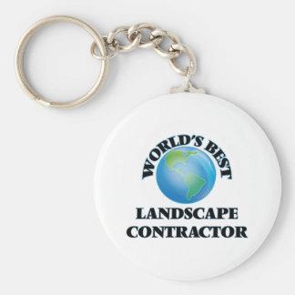 World's Best Landscape Contractor Keychain