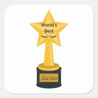 World's Best Lash Artist! Square Sticker