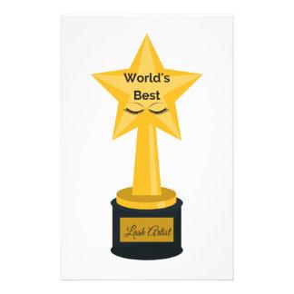 World's Best Lash Artist! Stationery