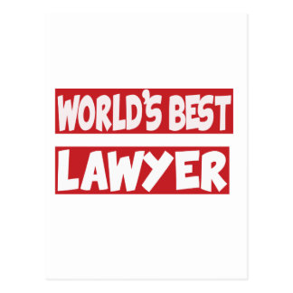 World's Best Lawyer. Post Card