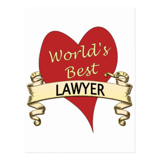 World's Best Lawyer Postcard