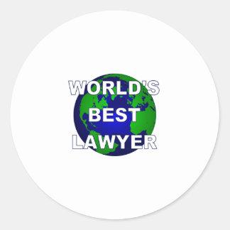 World's Best Lawyer Round Sticker