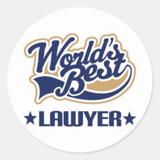 Worlds Best Lawyer Stickers