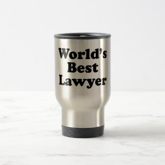 World's Best Lawyer Travel Mug