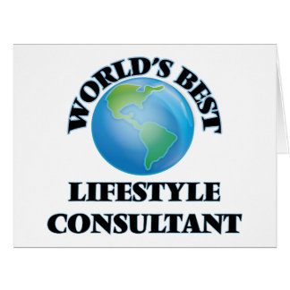 World's Best Lifestyle Consultant Card