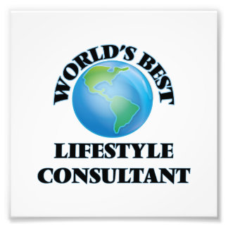 World's Best Lifestyle Consultant Photo Art