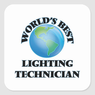 World's Best Lighting Technician Stickers