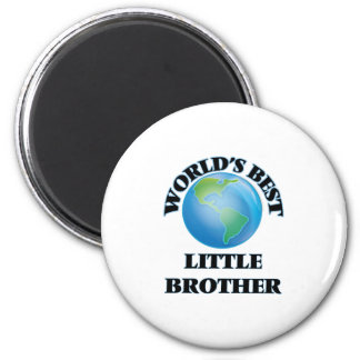 World's Best little Brother 6 Cm Round Magnet