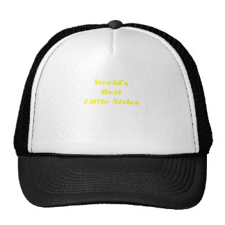 Worlds Best Little Sister Mesh Hat