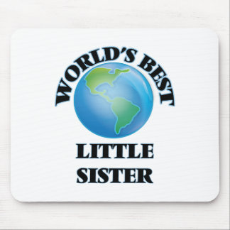 World's Best Little Sister Mouse Pads