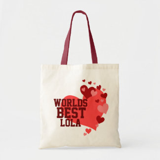 Worlds Best Lola Personalized Tote Bag